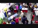 В Омской области женщина родила в очереди на кассе супермаркета