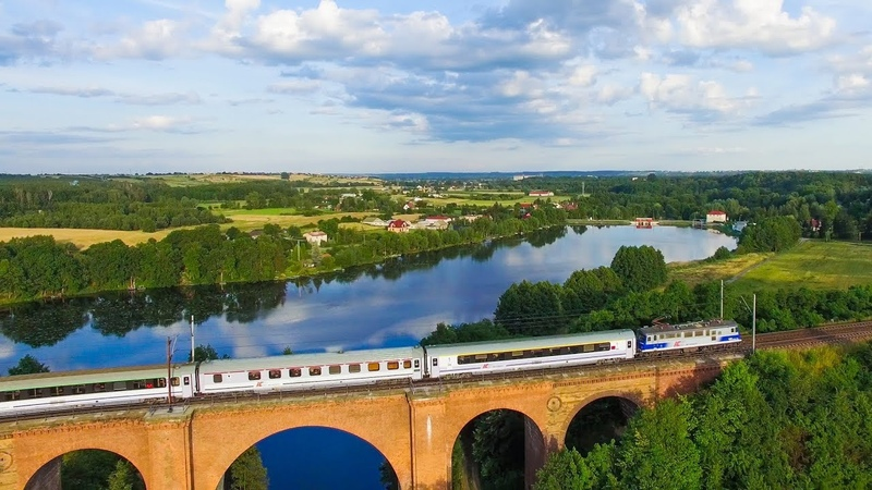 Pociągi z lotu ptaka 5 Trains filmed from air 5
