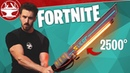 Fortnite Sword in Real Life BURNS EVERYTHING