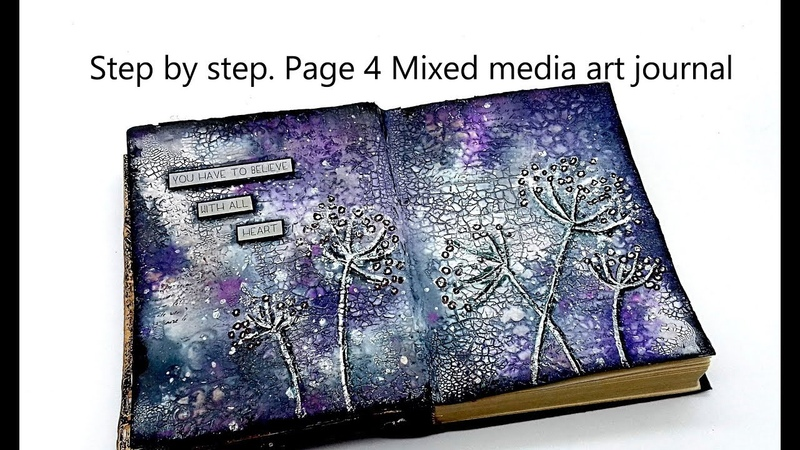 Page 4 Step by step Mixed media art journal