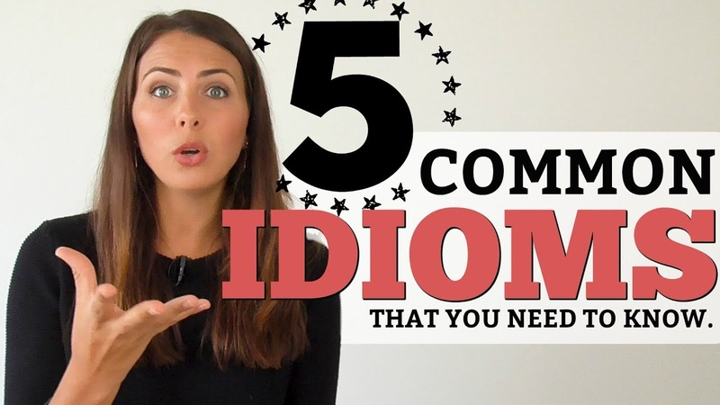 TOP 5 English Idioms   Vocabulary you need to know!