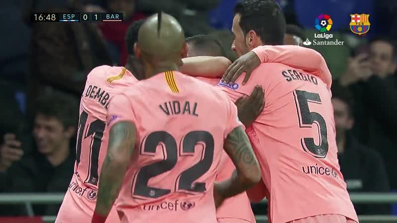 RCD Espanyol 0-4 FC Barcelona Tickled pink!