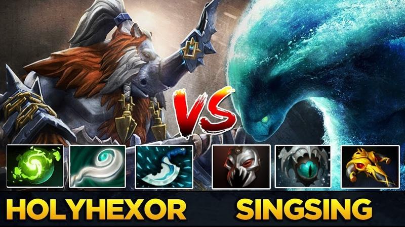 SingSing Carry Morphling vs hOlyhexOr Solo Mid Magnus - Streamer vs YouTuber - 7.19 Patch Dota 2