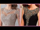 Gorgeous stunning beads embroidery evening dresses for women's 2019 party wear outfits
