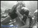 Underwater Vintage Scuba Fight