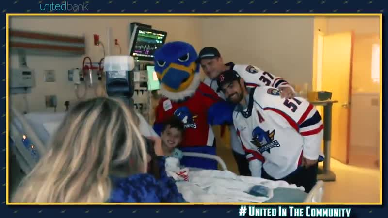 T Birds Matt Mangene and Tony Turgeon stopped by to say hello and meet some young fans at Baystate Childrens Hospital