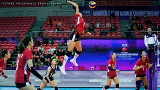 Top 10 Amazing Volleyball PIPE by Liu Yanhan () on WCWC 2018
