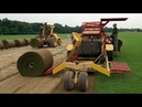 Artificial Turf Sod Installation Football Fields Golf Courses Grass Mega Machines Heavy Equipment
