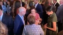 """It's all about the babies today Meghan meets Missy Higgins a singer and her daughter Luna at a reception hosted by the Governor General"""" Hannah Furness Twitter royalvisitaustralia dukeandduchessofsussex harryandmeghan princeharry du"""