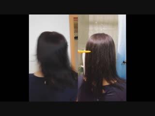Кератиновое выпрямление волос для Ксении)))