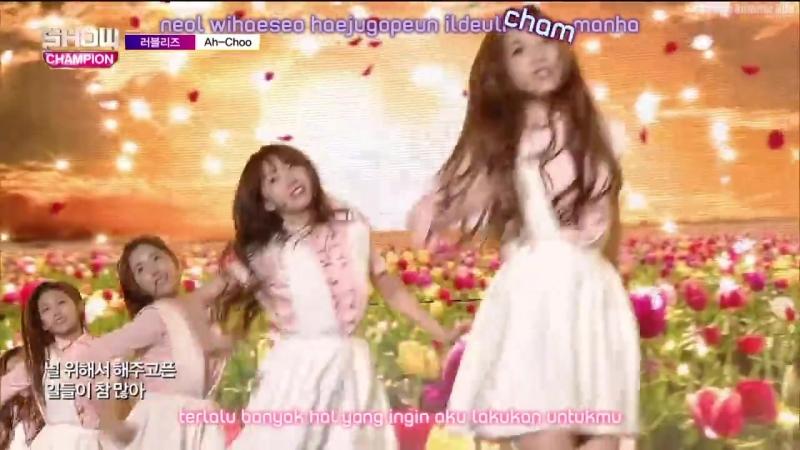 [Sub IndoKara] Show Champion Lovelyz - Ah Choo (7 Oktober 2015)
