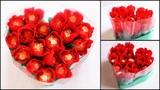 Heart Shape Chocolate Bouquet making Valentine's Day Gift Idea DIY Rose Bouquet