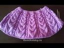 Вязание круглой кокетки спицами Вязание кофточки сверху часть 1