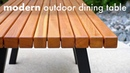Modern Outdoor Dining Table and Pergola Build How To - Woodworking