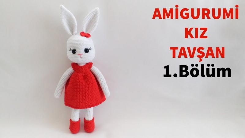 Amigurumi Örgü Kız Tavşan Yapımı Kol, Bacak ve Gövde Yapılışı 14 (Gül Hanım)