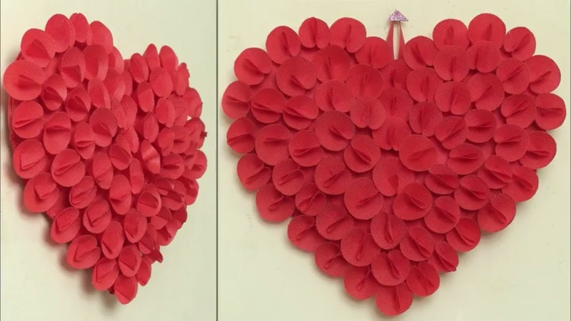 Best Out Of Waste Idea 2018 Heart Wall Hanging Craft Idea DIY Room Decor Idea Handmade