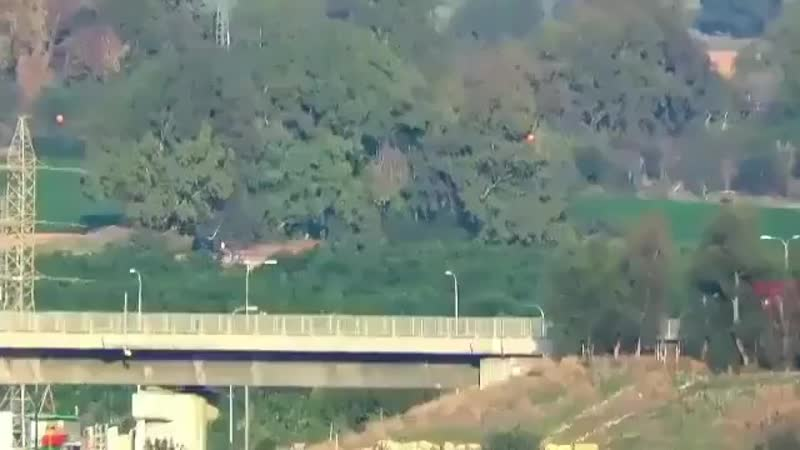 Палестинские друзья России обстреливают территорию Израиля противотанковыми снарядами. Под.mp4