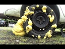 What will happen if you fill the wheel construction foam, Emergency fix a flat tire by yourself