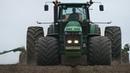 John Deere 8430 w/ HUGE Tires Seeding The Field John Deere 8345R 8230 Ploughing DK Agri