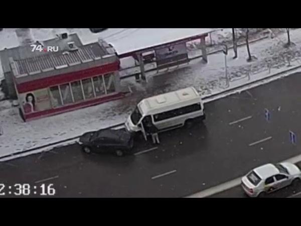 В Челябинске драка двух водителей переросла в ДТП