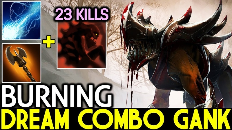 BurNing [Lifestealer] Dream Combo Gank Legend Carry 23 Kills 7.19 Dota 2