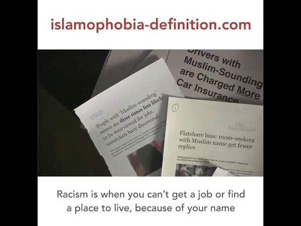 Islamophobia is racism