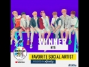 And the winner of Favorite Social Artist presented by @/Xfinity is... @/BTS_twt! Congratulations! /AMAs