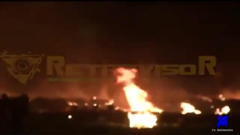 Momento Exacto de La Explosión en ducto de PEMEX HIDALGO (IMÁGENES FUERTES)