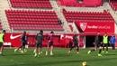 Entrenamiento del Sevilla con Partidillo ante el Filial