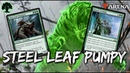 Steel Leaf Pumpy MTG Arena Mono Green Bounty of Might Deck in GRN Standard