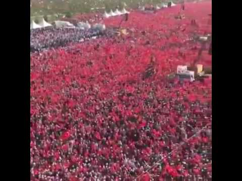 Recep Tayyip Erdoğan Miting in İstanbul EVET