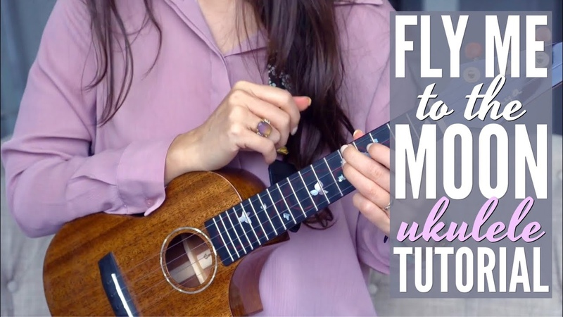 DAY 3 Love Songs Challenge: FLY ME TO THE MOON Ukulele Tutorial (for Baritone too!)