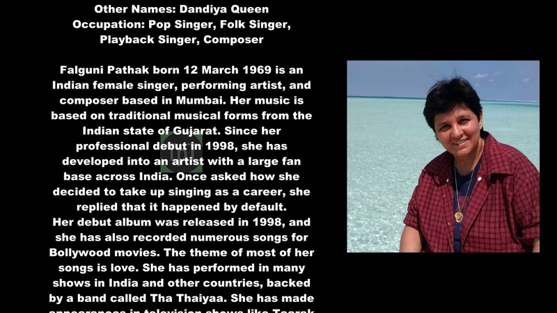 Falguni Pathak Biography With Detail TPT YouTube