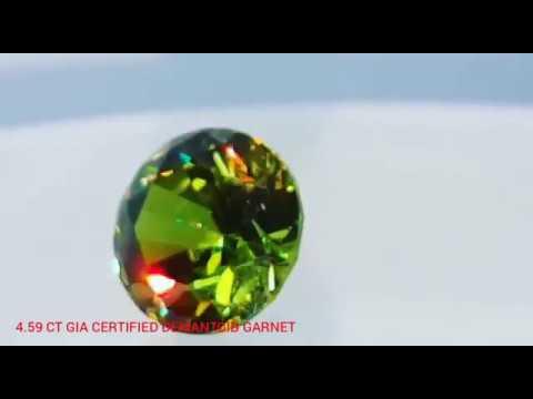 Demantoid Garnet GIA Certified 4 59ct Natural