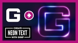 Create Glowing Neon Text with GIMP