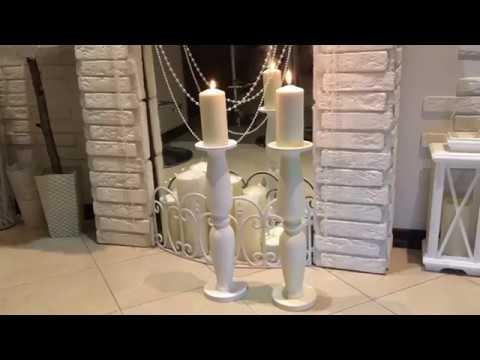 МК- высокие подсвечники! Из ваз из FIX PRICE. DIY high candlesticks