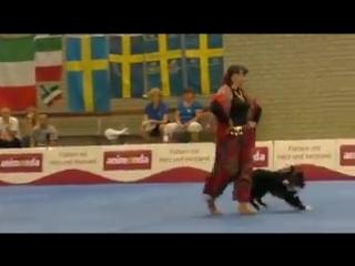 Цыганочка. Собака танцует с хозяйкой