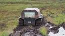 Вездеход Шерп засадили дважды. Russian ATV Sherp stuck down twice in Russian mud in swampy tundra