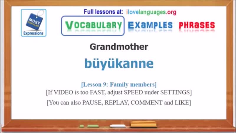 Learn Turkish - Common Words-n-Expressions
