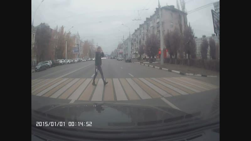 г.Воронеж (танцы на дороге)Ленинский пр-т
