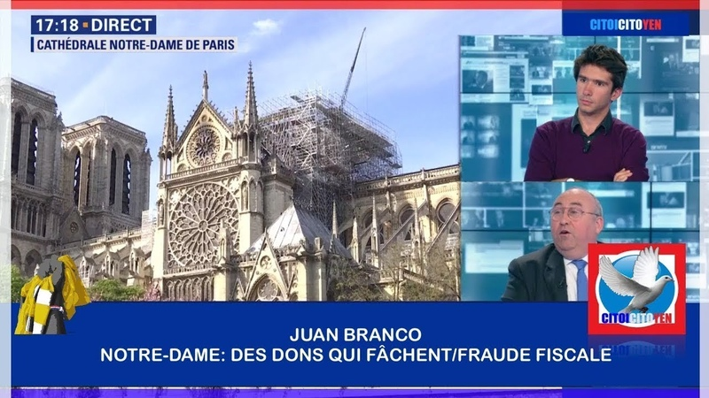 Juan Branco Notre Dame des dons qui Fâchent fraude fiscale