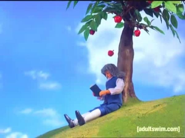 Isaac Newtons First Reaction | Robot Chicken | Adult Swim