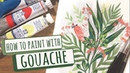 How to paint with gouache tutorial basics