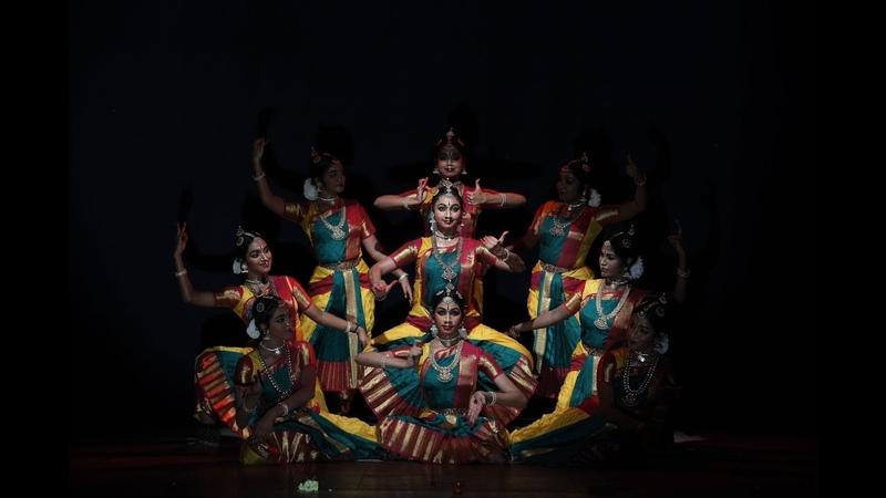 Sivaranjani Varnam Group presentation Sridevi Nrithyalaya Bharatanatyam Dance