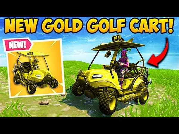 *FIRST EVER* GOLD GOLF CART FOUND! - Fortnite Funny Fails and WTF Moments! 320