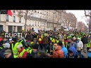 LIVE 'Yellow Vest' protests hit Paris for the tenth week in a row