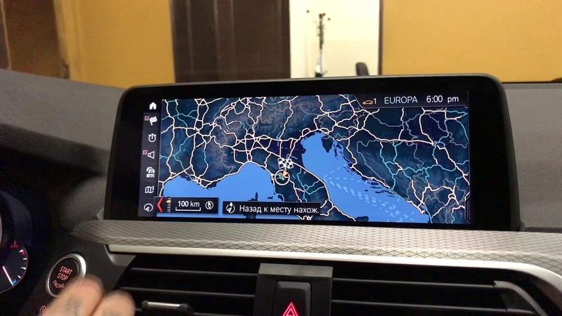 На BMW Х3 G01 Заменили сток головное устройство на NBT EVO с тач монитором. Установили LED панель