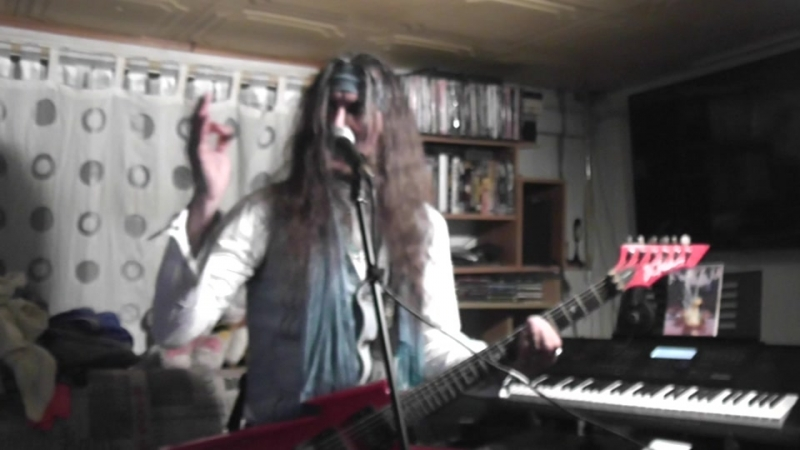 Michael Crusader - My person practik on B.C.Rich ,with sing.