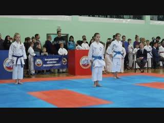 Выступление по каратэ на Первенстве Владимирской области