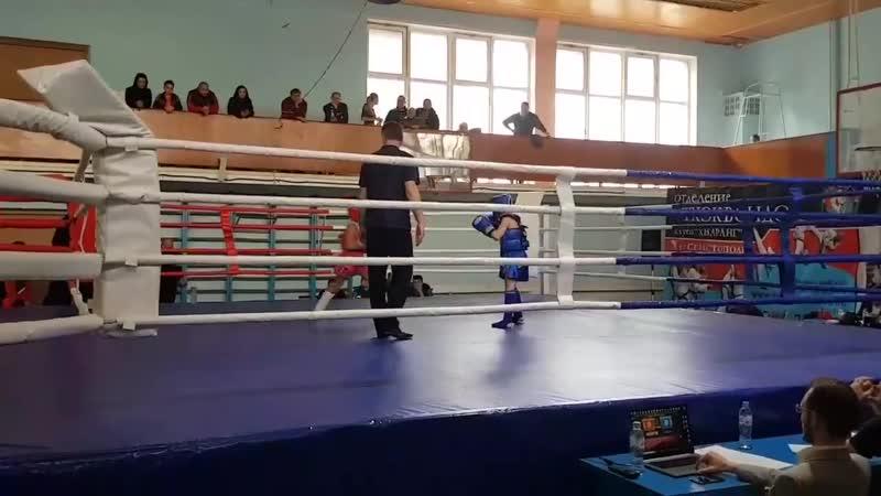 Первенство Севастополя по Тайскому боксу 2018г Анастасия Тюнина Т 34 Финальный бой